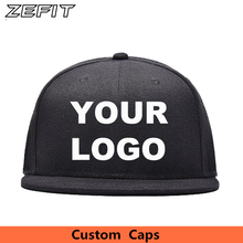 LOGO Custom Embroidery Hats Baseball Snapback Cap Custom Acrylic Cap Adjustable Hip Hop or Fitted Full closure Hat