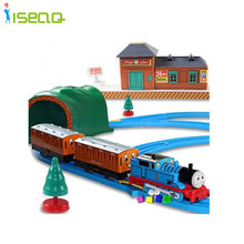Hot Wheels Thomas And Friends Electric Thomas Trains Set With Rail Toys For Children Boys Kids Toys Christmas gift for children(China)