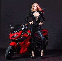 Buy Sexy Bodysuit Latex Catsuit Women Pu Leather Pole Dance Clubwear Lenceria Sexy Costumes Stripper Clothes Ropa Erotica Black