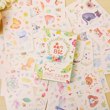 28 pcs/set card lover Amazing Forest mini card greeting card lomo memo card kids gift postcard kawaii stationery
