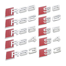 5 Styles New 3D Metal S3 S4 S5 S6 S8 Car Sticker for Audi A3 A4 A4L A5 A6 A6L A8 A8L Car Badges car Stickers