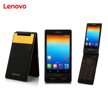 Original Lenovo Android Flip Old Phone A588T MTK6582 Quad Core Smart phone 4GB ROM Dual Sim 4.0 Inch 5MP Camera Russian language(China)