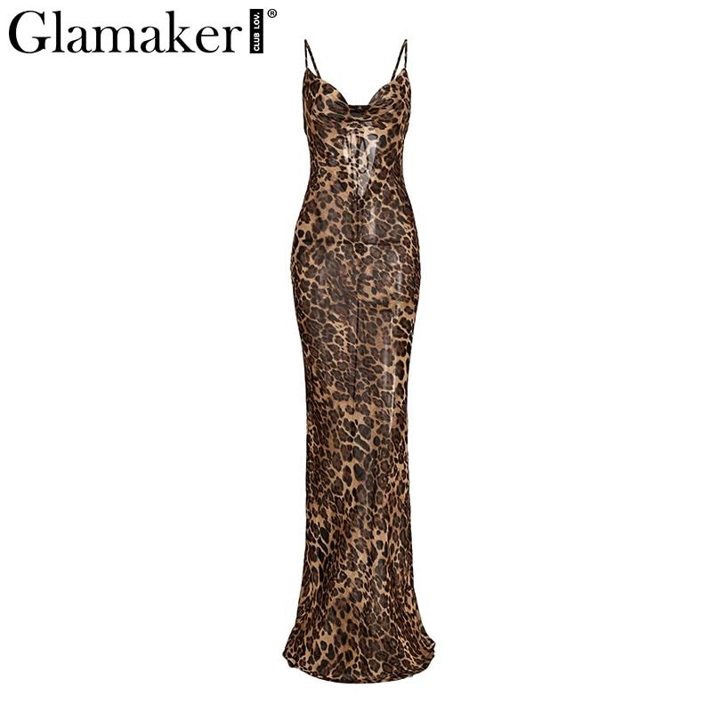 HTB1bsJXIWmWBuNjy1Xaq6xCbXXa8 - Glamaker Leopard print sexy women long dress Bodycon strap christmas winter dress Elegant backless maxi party vintage dress 2018