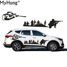 Stickers For Hyundai Santafe Car Styling Creative DIY US Army Car Whole Body Decals Decoration Off-Road Vehicle Car Decals 2PCS