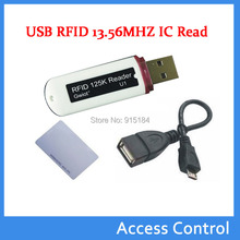MIni USB RFID 13.56MHZ IC card reader Contactless Proximity Smart Card NFC Reader support Windows/ android+2pcs Sample NFC cards(China)