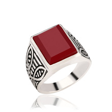 Square Plating alloy ancient Resist allergic ring The planeashion ring for men Jewelry Free Shipping
