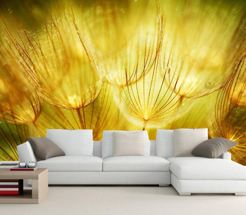 Custom 3D murals,beautiful dream dandelion wallpaper papel de parede,restaurant living room TV sofa wall kids room wallpaper<br>