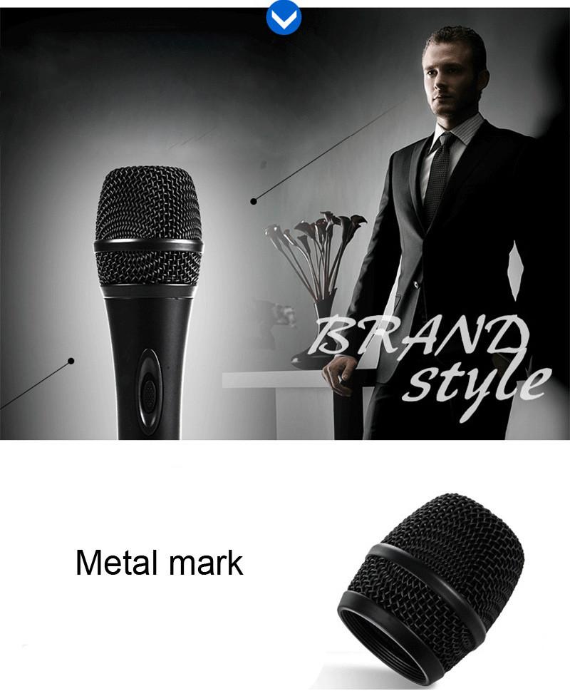 Quality Wired Dynamic Microphone Professional Mike Microfone Mikrofone Mic Singing KTV Karaoke Microphone System Microfono PVM02 (3)
