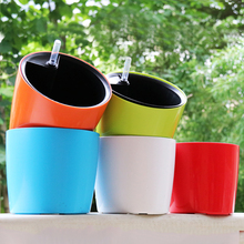 Five color Water level gauge automatic watering  Intelligent plastic flower pots pastoral Corrosion resistance flower plant pot