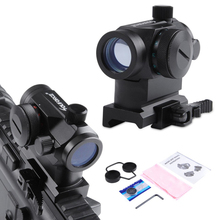 QD High Red Green Dot Holographic Sight Riflescope Quick Detach with 20mm Mount Rifle Scope for Picatinny and Weaver Rail System(China)