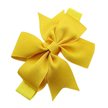 1 Piece Baby Girls Hair Bow Tie Ribbon Decor Hairband Headband (Yellow)(China)