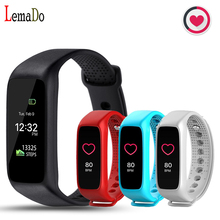 New arrival Lemado L30T Bluetooth Smart Band Dynamic Heart Rate Monitor TFT-LCD Screen Smartband for android IOS Smartphone