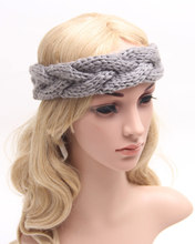 Winter headwraps womens braided knit headband cable headband black gray dark red white beige etc.