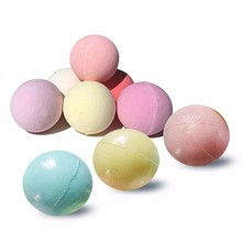 1pcs Home Hotel Bathroom Bath Ball Bomb Aromatherapy Type Body Cleaner Handmade Bath Salt Gift random color DI40