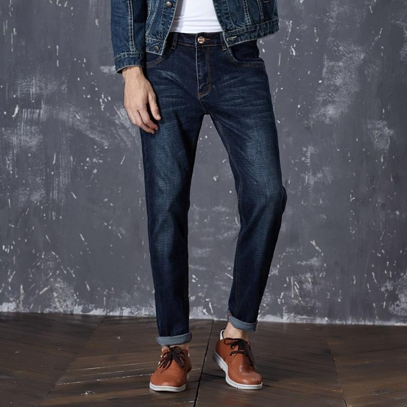 2017 New Brand Men Stretch Denim Slim Jeans Blue Fashion Trendy Trousers Pants Size 33 34 35 36 38 40 42 For Mens JeanОдежда и ак�е��уары<br><br><br>Aliexpress