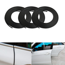 6M Black Moulding Trim Strip Car Styling Rubber Sticker Door Scratch Protector Guard Cover for BMW Audi Opel Renault KIA Hyundai