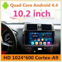 10.2 inch Quad Core Android Car DVD gps Radio for Prado 150 2014 2015 2016 2017 With Wifi BT Map Free Shipping