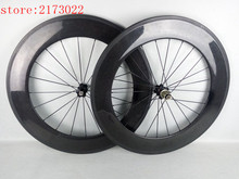 Chinese carbon wheels,88mm wheels are used for road bike,carbon thbular/clincher wheelset,V Brake one years warranty