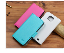 High quality Original J&R Brand Flip Leather Case Cover For Samsung Galaxy S2 SII i9100 GT-i9100 with wallet and card holder