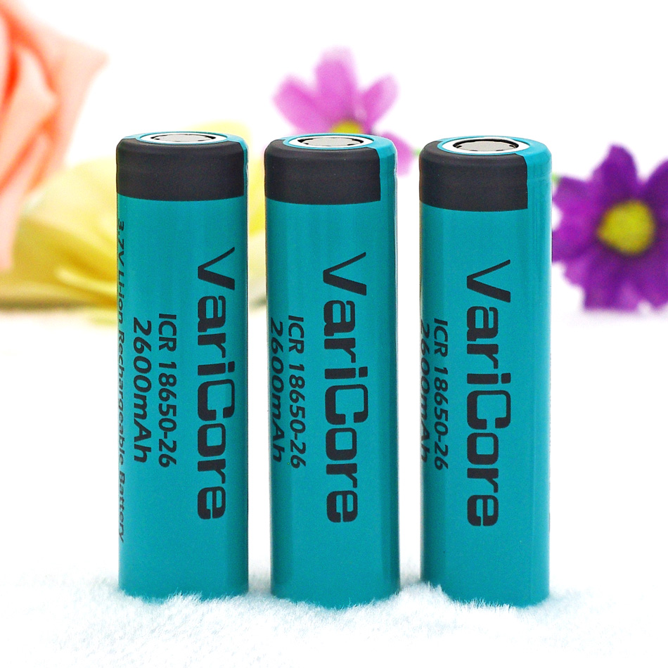 3PCS VariCore Original ICR18650-26  2600mAh 18650 Li-ion Rechargeable Battery The Flashlight Btteries+Free shopping<br><br>Aliexpress