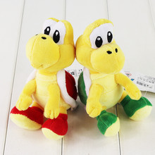 10pcs/lot 16cm Super Mario Plush Toy Koopa Troopas Red Green Turtle Tortoise Stuffed Animal Doll for Children