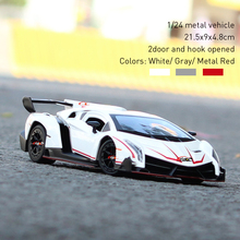 1/24 Scale Diecast Car Model White Color -- Lambo Venneno Metal Car Model for Kids(China)