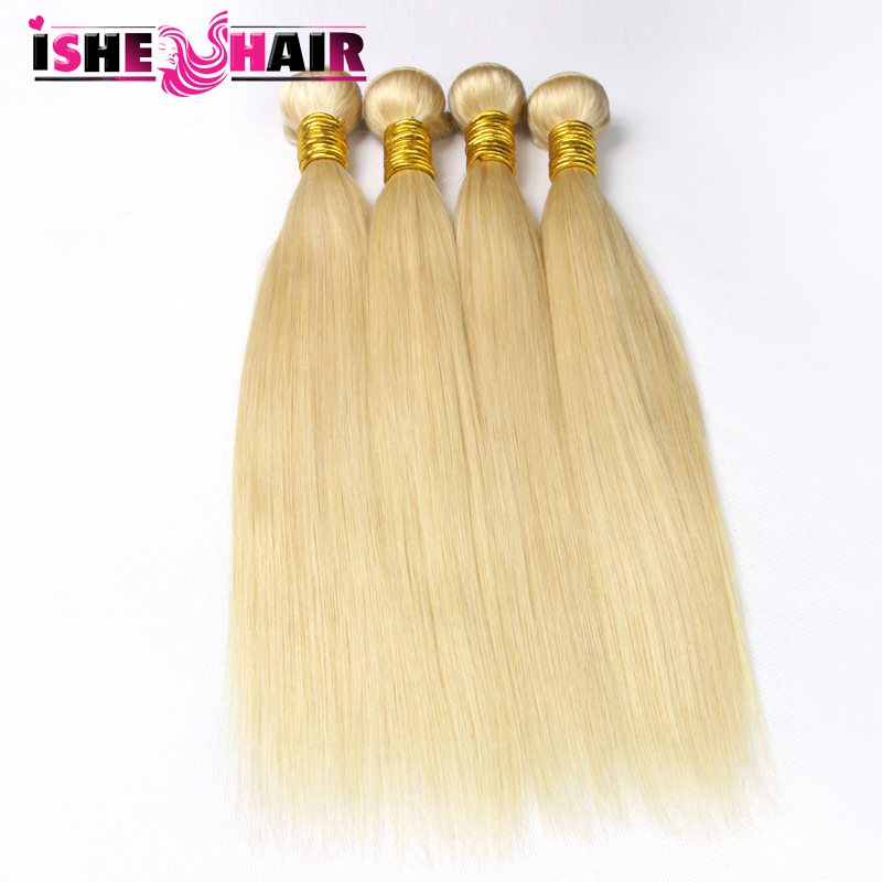 4 bundles 613 blonde virgin hair extensions 6 grade blonde brazilian hair 100g/pc 100% human hair weave straight hair<br><br>Aliexpress