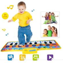 Hot Sale Touch Play Keyboard Musical Singing Dancing Gym Carpet Mat Best Kids Baby Gifts 80*28CM Dropshipping(China)