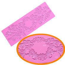 New Arrival Silicone Mat Wedding Cake Decoration Silicone Lace Mold Cake Mould Kitchen Accessories Fondant Cake Tools LS148(China)