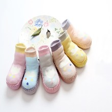 kidadndy Baby Socks Spring and summer flowers cotton children 's floor socks non - slip dispensing baby step socks GXY018