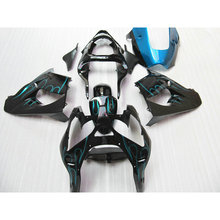 Professional ABS fairing set for Kawasaki blue flame in black ZX9R 02 03 motorcycle Fairings parts Ninja ZX 9R 2002 2003 Y3Y4