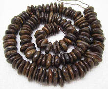 "9-13mm Natural Bronzite Stone Freeform Rondelle Loose Beads 15"" , Min.Order is $10,we provide mixed wholesale for all items"