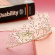 Wedding romantic crystal rhinestone headband bride high quality beads hair jewelry bridal tiaras vintage hair accessories