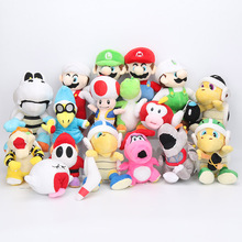 15-25cm super mario bros plush toys super mario plush Luigi yoshi peach Shy Guy Birdo Boo Flying Fish soft stuffed toy kids doll(China)