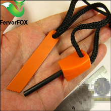 Top Quality Camping Magnesium Flint Striker Stone Fire Steel Starter Lighter Survival Kit