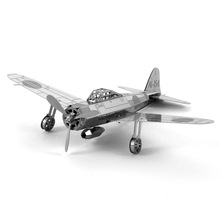 2016 Hot sale Zero fighter scale models diy 3D Metallic Nano Puzzle Toys playmobil Model Building Free Shipping brinquedos