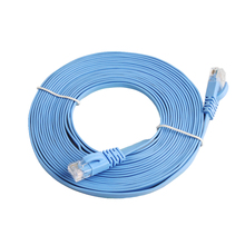 5M Ethernet Network Cable New 15FT CAT6 CAT 6 Flat UTP RJ45 LAN Cord #22818(China)