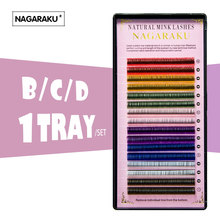 NAGARAKU  16rows/tray, 8 Colors ,Rainbow Colored Eyelash Extension ,color eyelashes,colorful eyelash extension