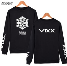 MULYEN VIXX KpopSweatshirt Women Fans Support Member Name Printed Fleece Hoodies Pullover Black Hoodie Korean Clothes