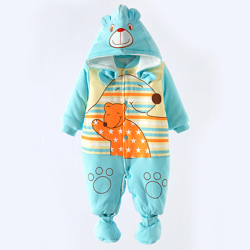 2017  Newborn Baby Boy Winter Long Sleeve Cotton Clothing Toddler Baby Clothes Romper Warm Cartoon Jumpsuit for 0-12 Months <br><br>Aliexpress