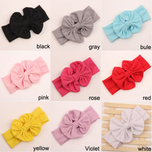 20 pcs/lots , wholesale hair accessories cotton headband messy bow headwrap sweet head band(China)