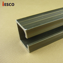 Sliding door pulley rail sliding door guide rail crane mute folding hanging round slide thickness 2.0/ per meter