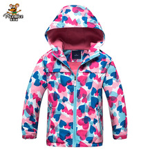 Girl Polar Fleece Waterproof Jacket 2017 Autumn Winter Children Coats Sport Casual Kids Jackets Double-deck Windproof Jackets(China)