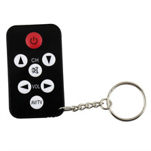 1 pcs Mini Universal Infrared IR TV Set Remote Control Keychain Key Ring 7 Keys  wholesale dropping 2017 New Arrival