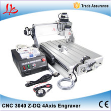 3D CNC Milling Machine 3040 Z-DQ 4 axis with engraving machine tool drilling bits