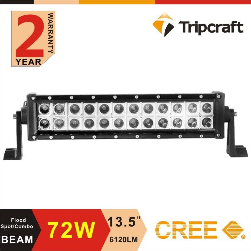 72W LED LIGHT BAR OFF ROAD Led FOR ATVs SUV  Truck Trains Boat Bus Spot Flood led work bar 10-30V headlight<br><br>Aliexpress