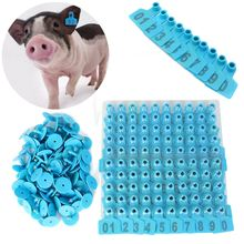 Ear Tag 1-100 Blue Number 100Pcs/set Plastic Livestock Ear Tag Animal Tag For Goat Pig Sheep Hog Cattle Beef Cow
