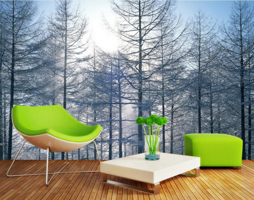 HD 3d Background Wall Decorative Paintings Pine Forest Landscape Living Nature Wallpapers Bedroom Extra Large Wall Murals<br>