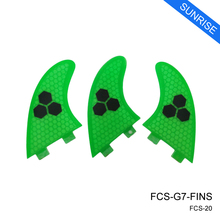 FCS G7 Surf Fin Green/Blue/Orange Honeycomb Fins Hot Sale FCS Surfboard Fin Quilhas Free Shipping
