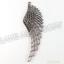 New Promotion 9pcs/lot New Wings Charms Alloy Antique Silver Plated Pendant Finding Fit Jewerly DIY 109*38*3mm 142651